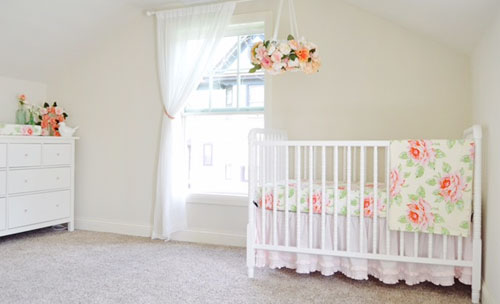rose themed nursery